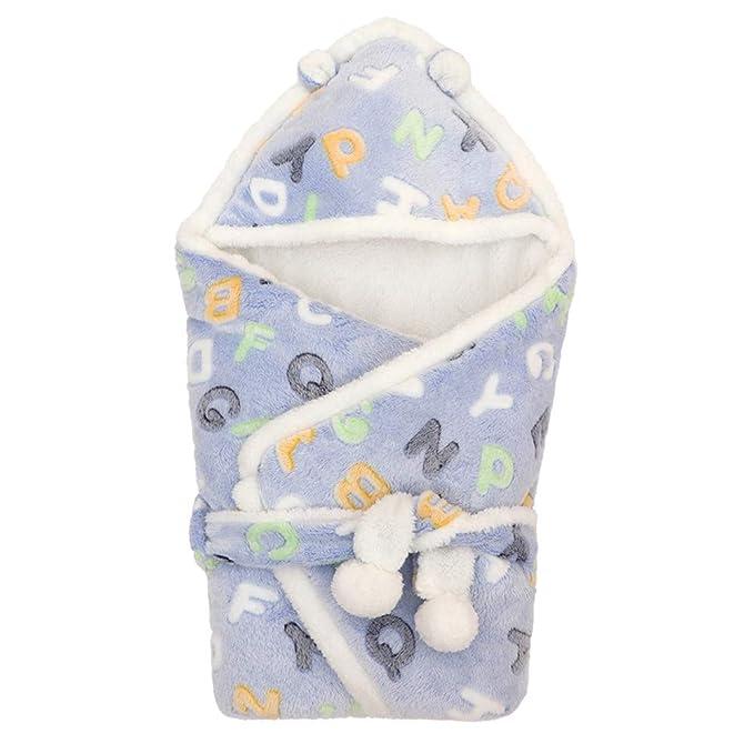Mitlfuny Saco de Dormir para Bebé Niños Invierno Cálido Manto Recién Nacido Franela Encaje Swaddle Wrap
