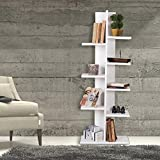 Bookshelf, 100% Melamine Coated Particle Board - White, One Color, 9 Shelf - Size (49.2'' x 17.7'' x 9.4''), Easy to Hang with Invisible Brackets, Wall Mounted Floating Shelves for Home & Office