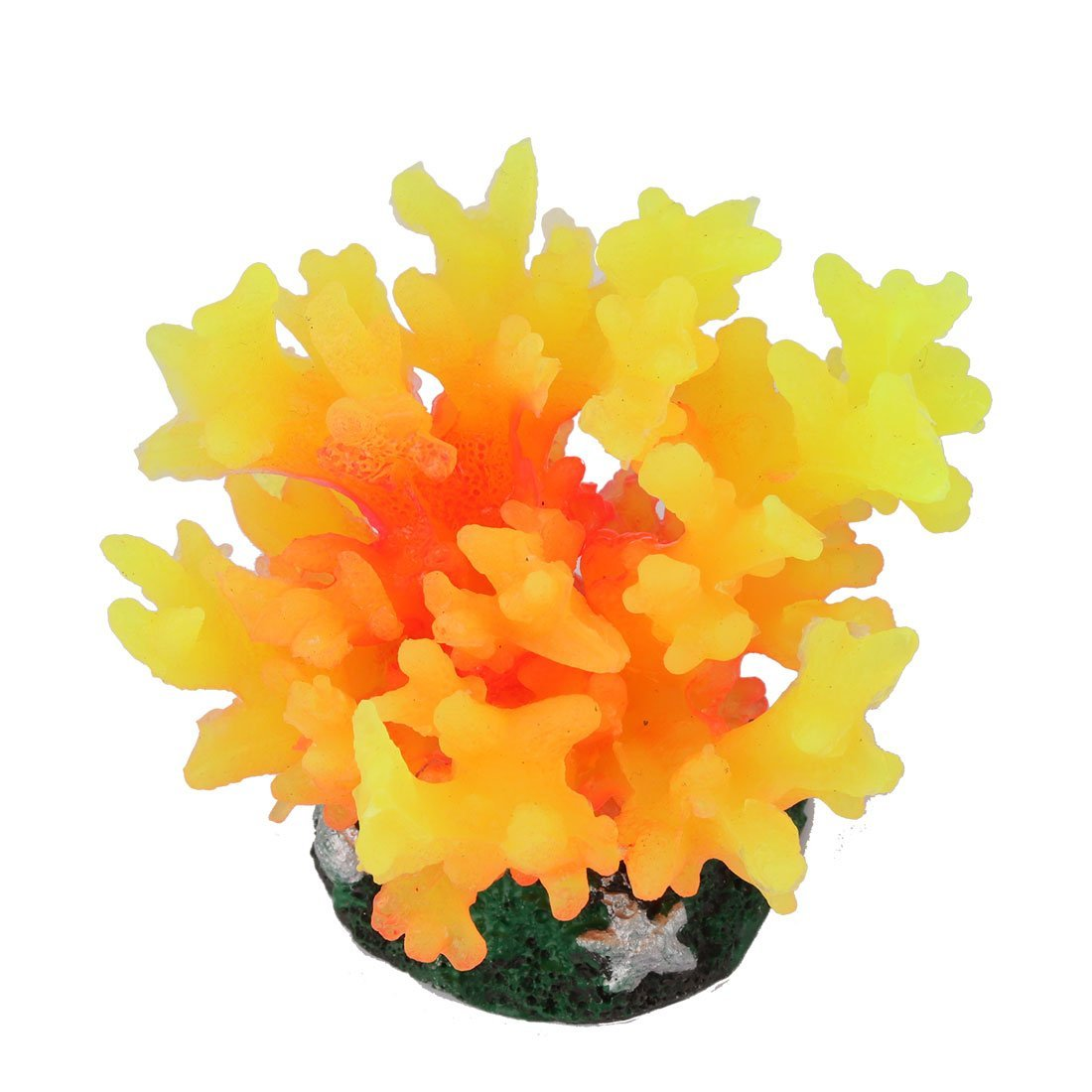 Amazon.com : eDealMax peces de acuario tanque Artificial Waterscape Coral Planta Decoración Naranja Amarillo : Pet Supplies