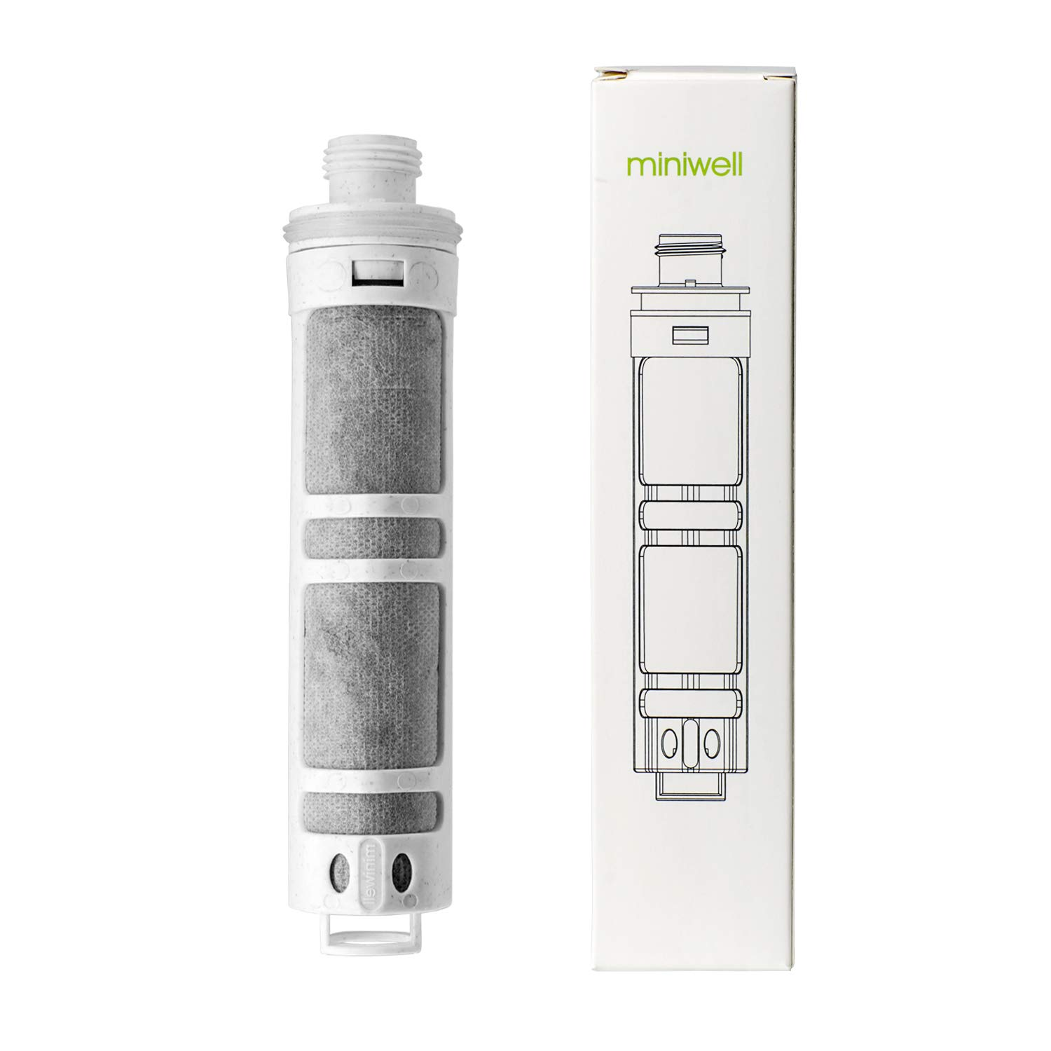 miniwell Filtered Shower Head Water Filter L750 - High output Shower filter- Hand-Held Showerhead- Fluoride & Chlorine Shower Filter – Softens Hard Water – Increases Water Pressure While Saving Water Ltd.