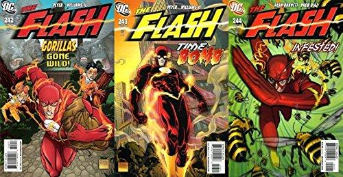 The Flash #242-244 (1987-2009) Limited Series DC Comics - 3 Comics