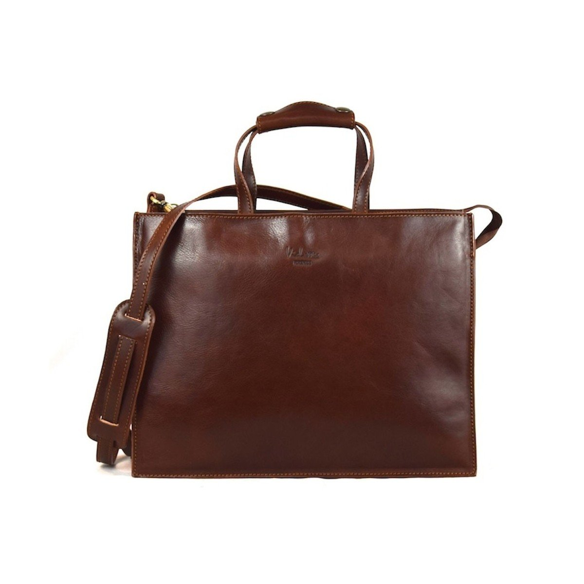 Made In Italy Women Business Leather Bag- Aletheia Color Brown - Business Bag   B018W36Z78