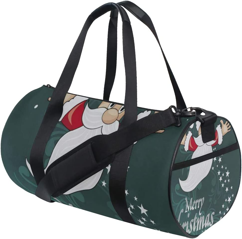 Duffel Bags Snowman Santa Sleigh Womens Gym Yoga Bag Small Fun Sports Bag for Men