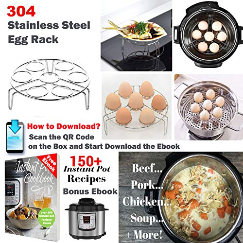 Tecvinci 12 Pcs Accessories Set Compatible with Instant Pot 568 Qt  Steamer Basket Egg Rack Springform Pan Silicone Pot Holder Magnetic Cheat etcwith Free recipe Best Gift Idea By Tecvinci