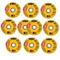 Dewalt DW8062 Type 1 High Performance Reinforced Cut-Off Wheel, 4-1/2 In Dia X 0.045 In 7/8in Arbor (10) Pack)