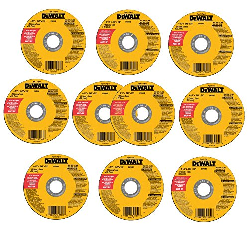 DEWALT DW8062 4-1/2 x .045 x 7/8 inch Metal Cut-Off Wheel (10pk)