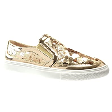 Angkorly Damen Schuhe Sneaker - Plateauschuhe - Glitzer Keilabsatz 2.5 cm - Rosa C-243 T 39 TZFCgNfAXT