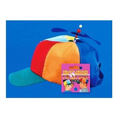 67cbfed8a Amazon.com: Propeller Beanie Hat Cap Multi-Color Clown Costume Hat ...