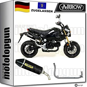 Arrow Komplettanlage Kein Kat Homologiert Schwarz Thunder Cc Kompatibel Mit Honda Msx 125 2013 2014 52506akn 52004mi Auto
