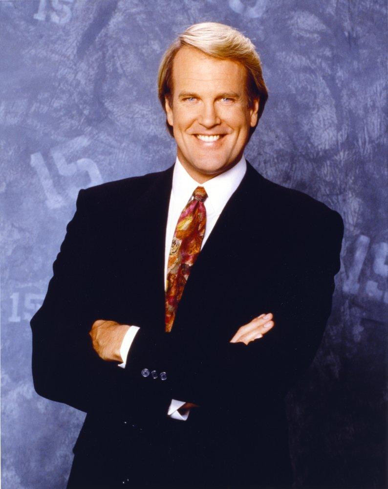 24 x 30 John Tesh Posed in Brown Tie Photo Print