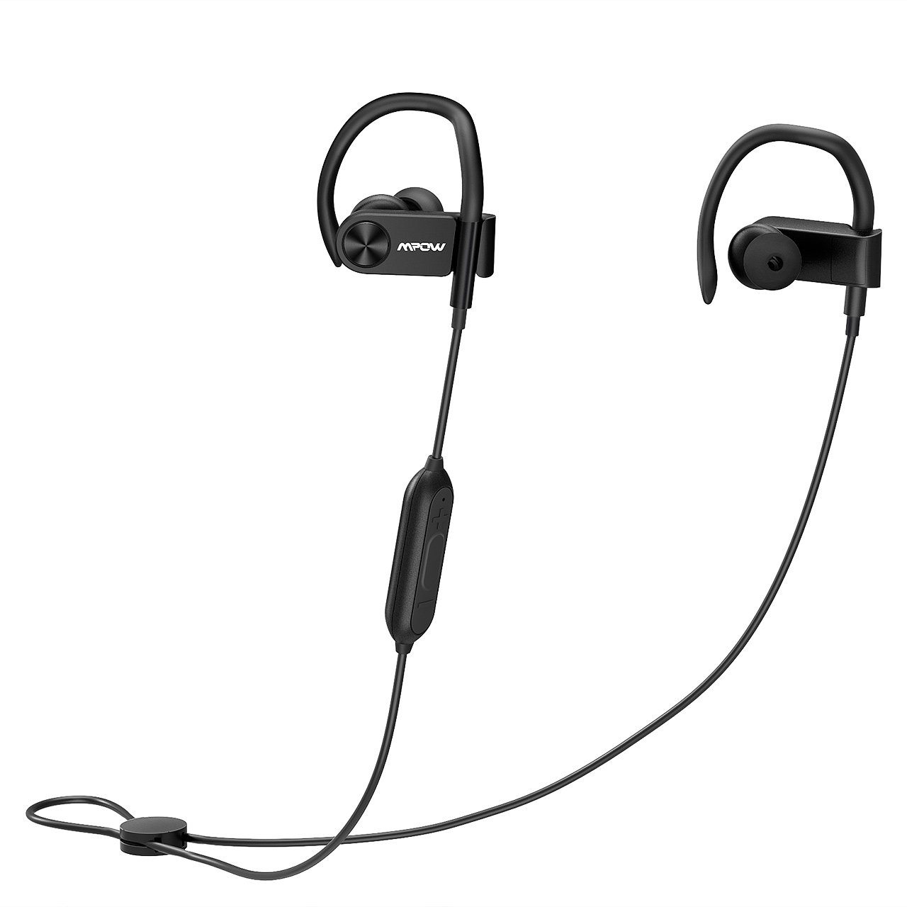 c491b92f402 Mpow D2 Bluetooth Headphones up to 16 Hours Playback, Ipx7 Waterproof Wireless  Earbuds Sport Headphones with Remote and Mic, Secure Fit for Gym Running ...