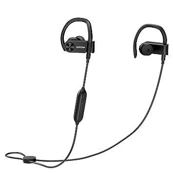 Mpow D2 Auriculares Bluetooth hasta 16 horas de reproducción, Ipx7 impermeables inalámbricos auriculares deportivos con mando a distancia y micrófono, ...