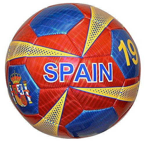 (Vizari Spain Soccer Ball, Red, Size)
