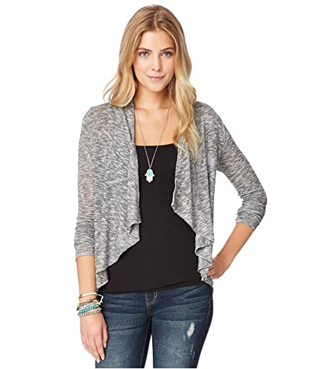 Aeropostale Womens Sheer Cardigan Sweater 053 XS at Amazon Women's ...
