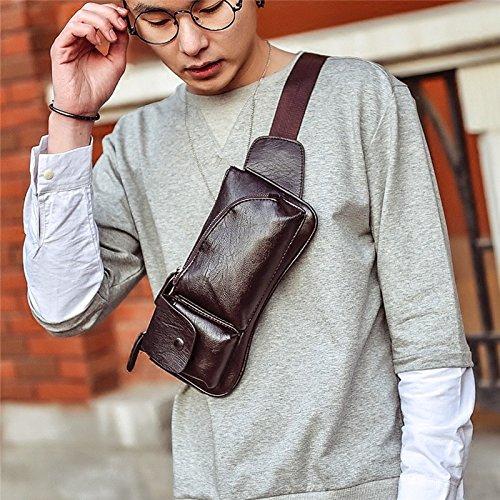 Hongrun Casual version coréenne de la poitrine pack mens forfait sport multi-fonction de lépaule unique de petits sacs sacs sac trendy sac élégant un paquet