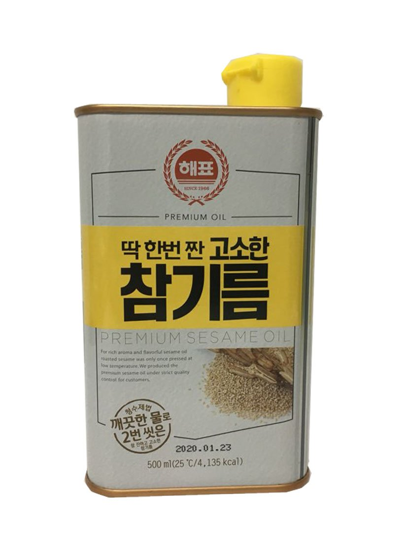 [SAJO] Korean Food Sesame oil (16.9 fl oz / 500ml) + SafeZone Mask (2pcs)