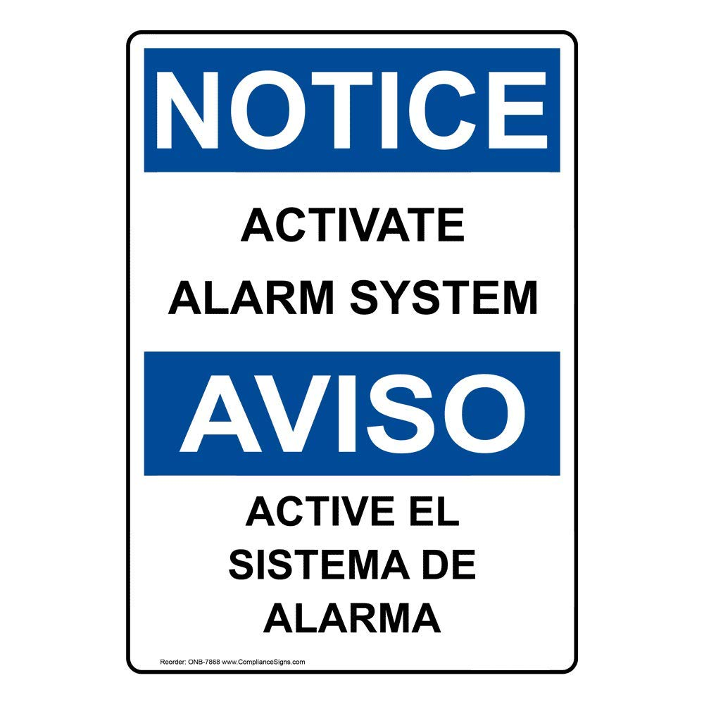 Amazon.com: compliancesigns Vertical de plástico OSHA Aviso ...