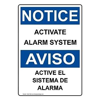 Amazon.com: compliancesigns Vertical de plástico OSHA Aviso ...