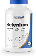 Nutricost Selenium 200mcg, 240 Veggie Capsules, Non-GMO, Gluten Free L-Selenomethionine