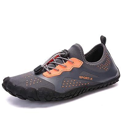zhenghwwyh Mens Womens Water Shoes Barefoot Quick-Dry Aqua Socks for Beach Swim Pool Surf Diving Aqua Sports Walking Yoga | Water Shoes