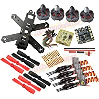 DIY Mini QAV210 FPV Quadcopter Frame kit &CC3D FC& Tarot MT2204 Ⅱ2300KV Motor&Emax BLHeli 12A ESC& 4050 Props&Matek mini power distribution board