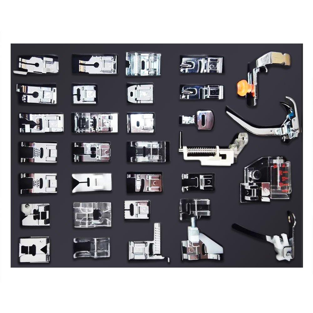 Nuzamas [aggiornato] 32PCS professionale per macchina da cucire piedini set, multifunzione spazio interno piedino parti accessori per Brother, Babylock, Singer, Janome, Kenmore, scatola imballata
