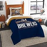 "Milwaukee Brewers MLB Twin Comforter Set (Grand Slam Series) (64"" x 86"")"
