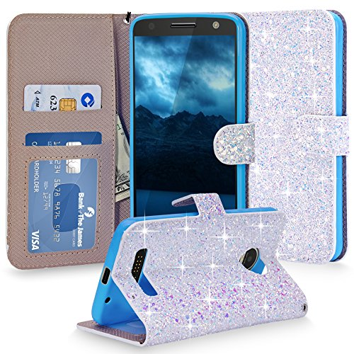 Cellularvilla Glitter Leather Protective Motorola