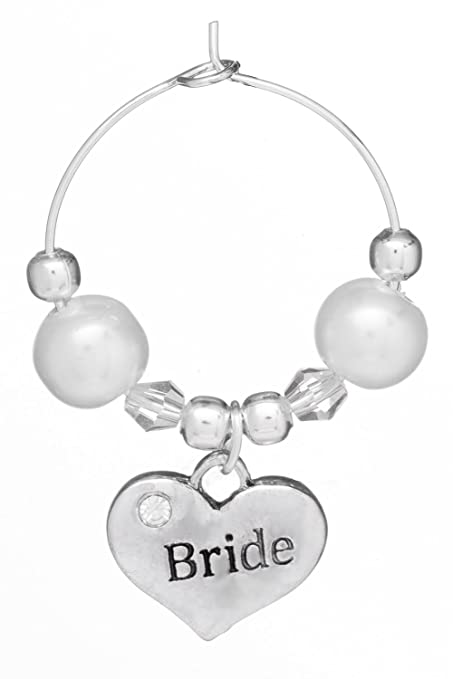Sister of Groom Wine Glass Charm Handmade by Libbys Market Place