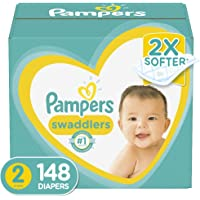Diapers Size 2, 148Count - Pampers Swaddlers Disposable Baby Diapers, Enormous Pack