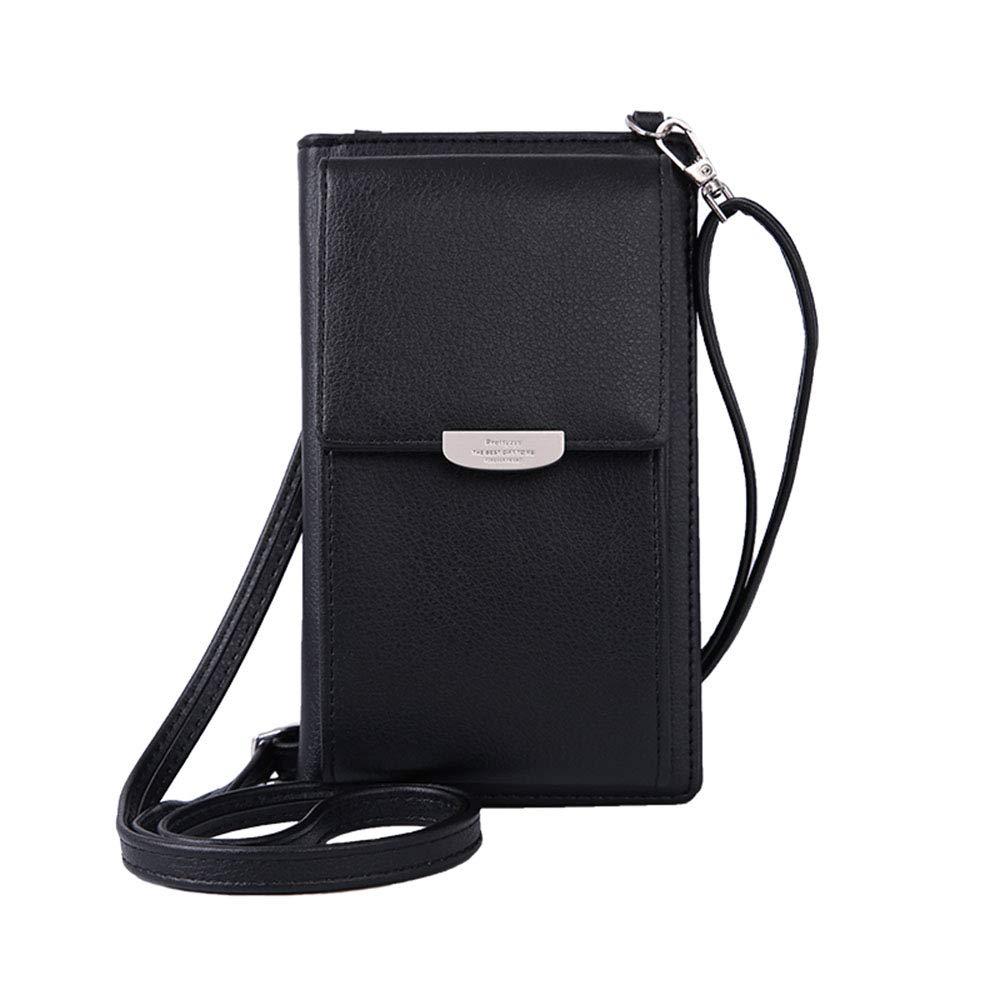 Summer Small Crossbody Bag, Cell Phone Purse Wallet with 2 Adjustable Shoulder Strap Handbag for Women (Black) by VIVI MAO (Image #1)
