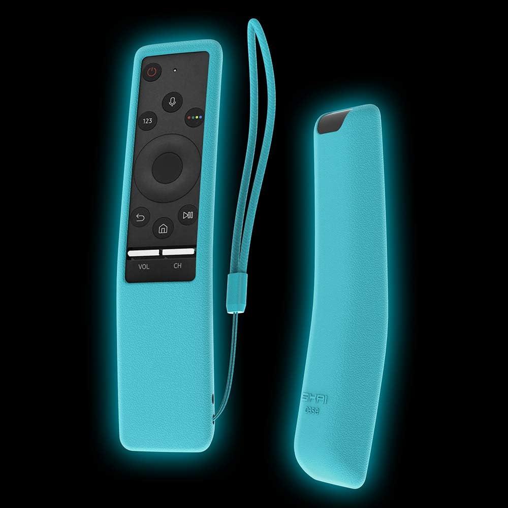 Funda para Smasung Smart TV Mando a Distancia BN59-01242A SIKAI Anti-lost Carcasa Resistente a los Golpes Protectora Para Samsung BN59-01274A (Brillar en El Oscuro)