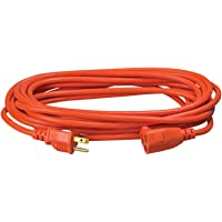 Southwire 2307SW 25-foot 16/3-Gauge Vinyl Outdoor Extension Cord with 3-Prong Plug (Orange)