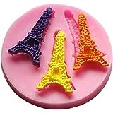 YOKIRIN Stampi in Silicone Formi di Torre Eiffel Accessorio per la Decorazione Della Torta del Fondente di Cioccolato Stampo Zucchero Torte Stampi Sapone - Hand DIY