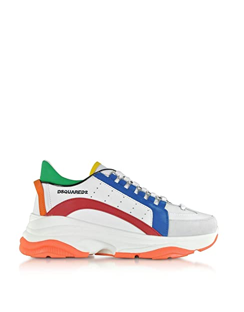 Dsquared2 Hombre Snm004711570001m1574 Blanco Cuero Sintético Zapatillas: Amazon.es: Zapatos y complementos