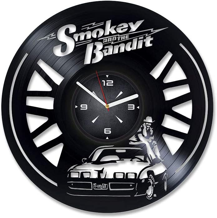 Smokey and The Bandit Vinyl Record Wall Clock. Decor for Bedroom, Living Room, Kids Room. Gift for Boys or Girls. Christmas, Birthday, Holiday, Housewarming Present.