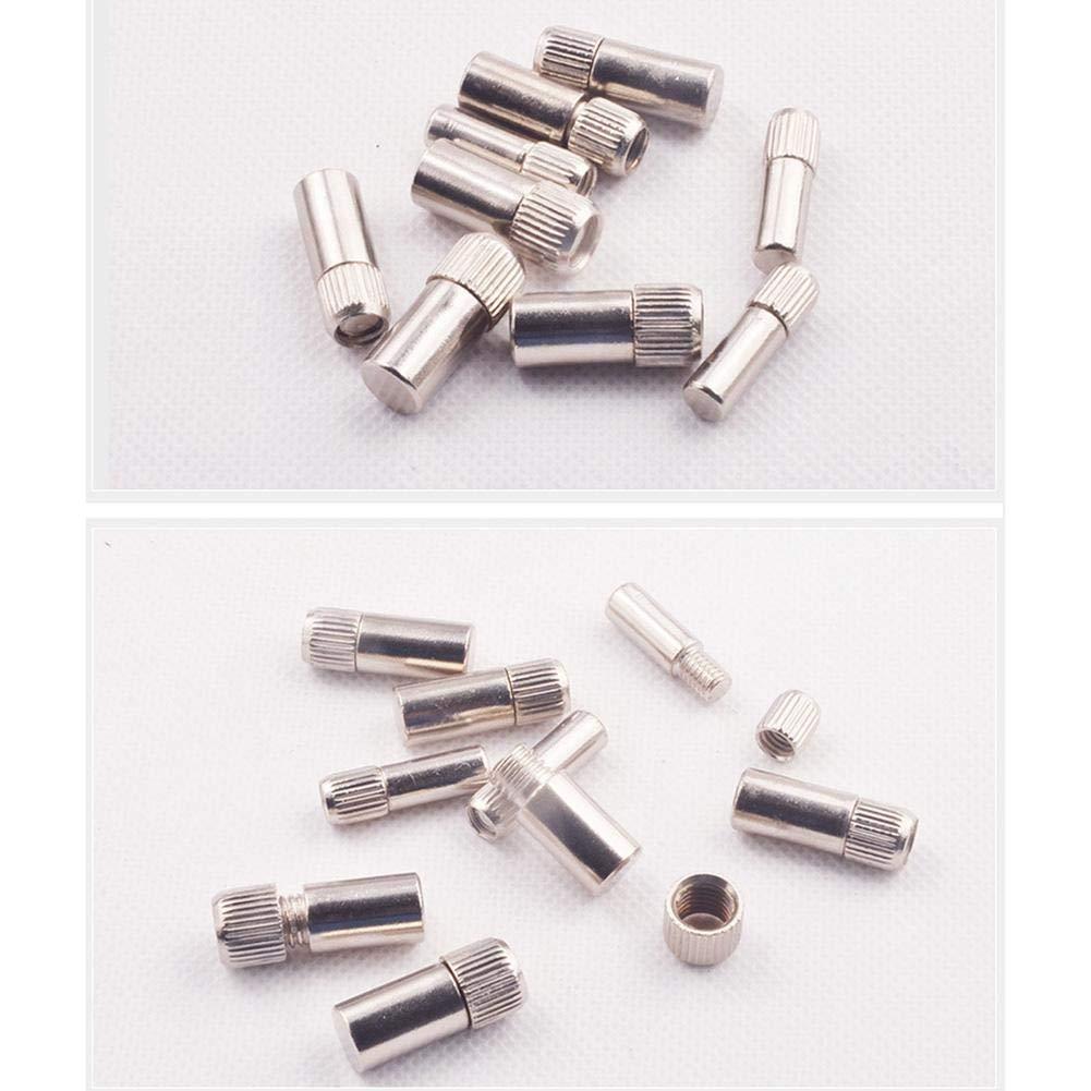 Jannyshop 36PCS Cabinet Screw Nut Bracket Laminated Wooden Shelf Drag Nail Full Iron Core Plate Lightweight Rack Nail(6/8/9cm)