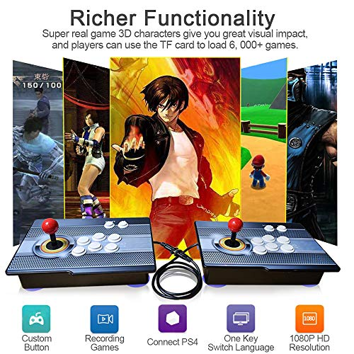 XFUNY Arcade Game Console 1080P 3D & 2D Games 2020 in 1 King of Fighters Pandora's Box 3D 2 Players Arcade Machine with Arcade Joystick Support Expand 6000+ Games for PC / Laptop / TV / PS4 ()