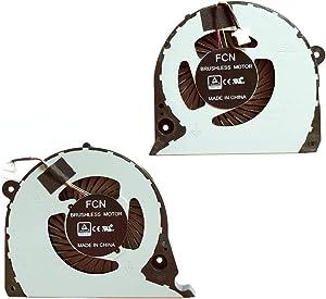 Replacement Compatible Laptop CPU Cooling Fan Cooler for Dell Inspiron G7 15-7000 7577 7588 G5-5587 P72F 2JJCP FJQS DC5V 0.5A gpu FJQT 02JJCP 6.22 CFM 6.06 CFM fcn DFS541105FC0T dfs2000054h0t Fans