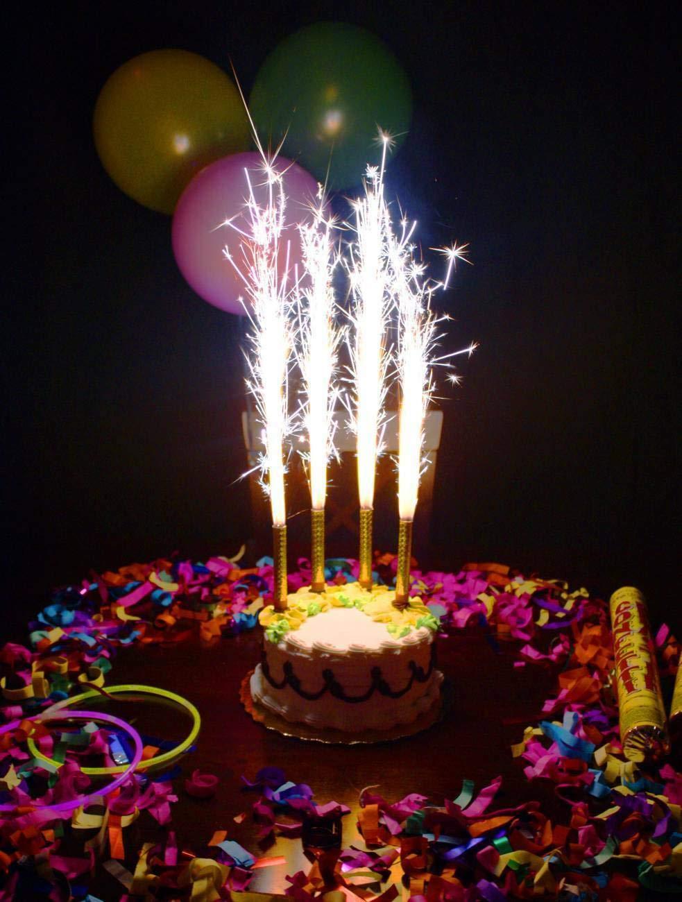 Amazon.com: Velas de cumpleaños para boda, sin humo, 1 ...