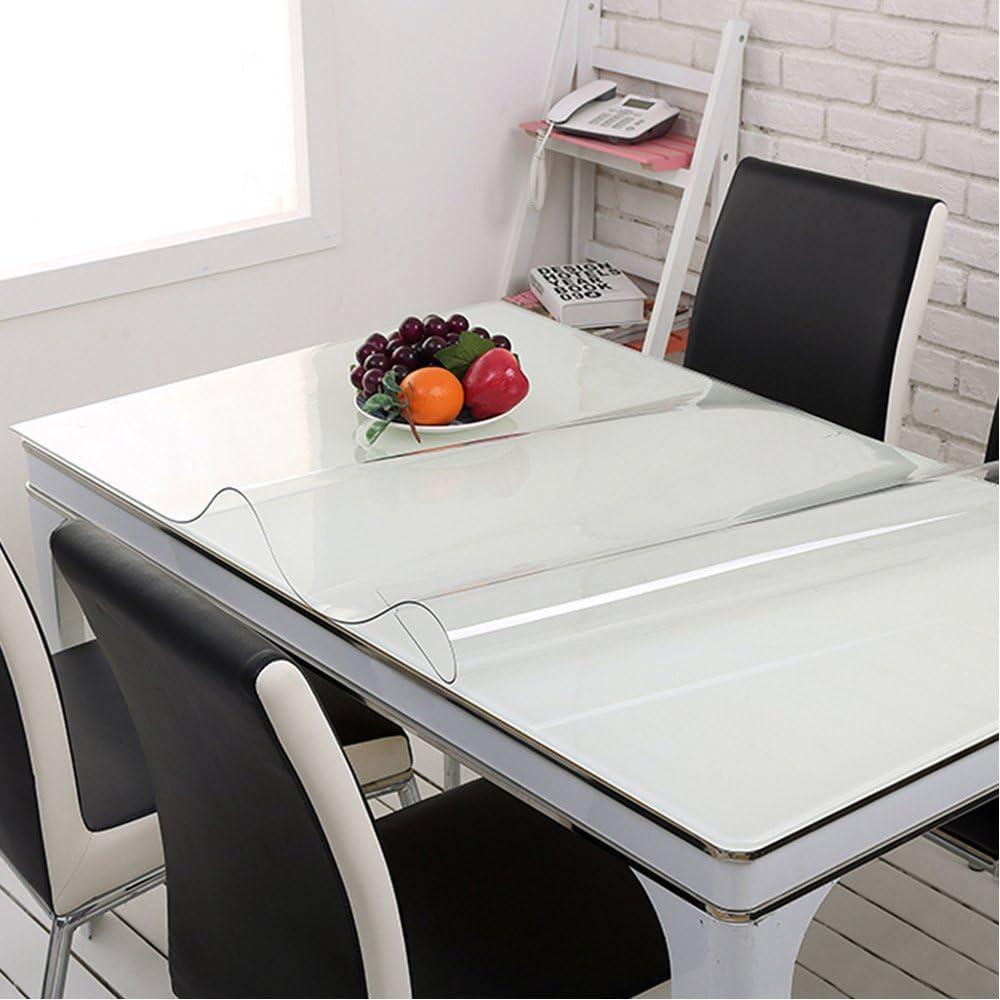 Yazi Tovaglia Trasparente Facile Da Pulire Tovaglia In Vetro Morbido 80 X 140 X 1 Mm Amazon It Casa E Cucina