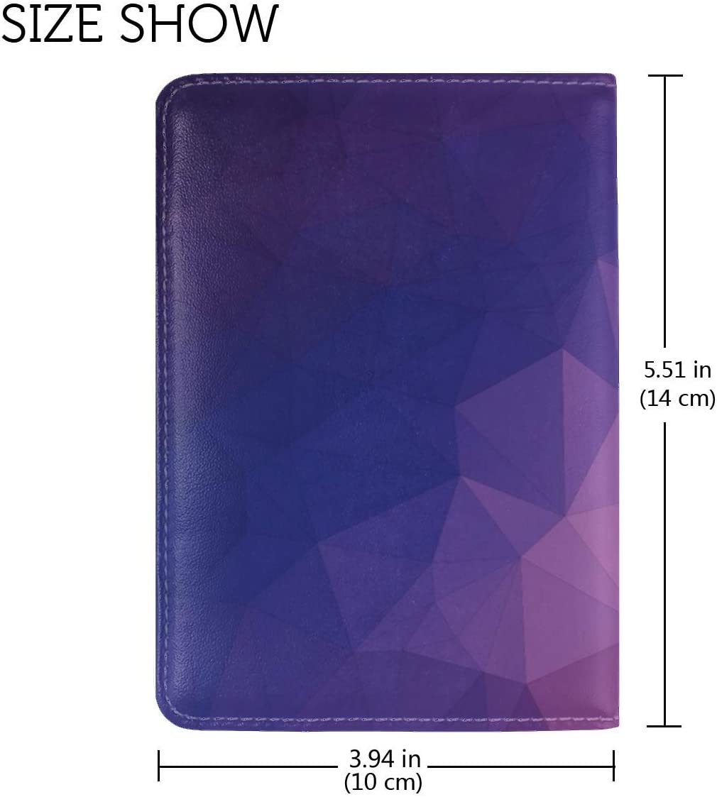JiaoL Polygon Triangles Geometric Leather Passport Holder Cover Case Travel One Pocket