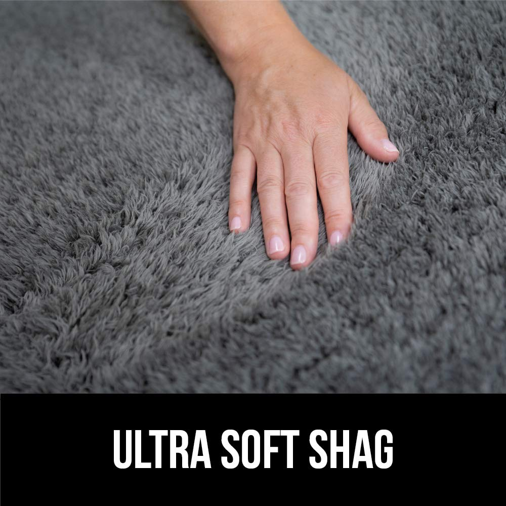 Super Soft /& Cozy High Pile Machine Washable Carpet Hot Pink Modern Rugs for Floor GORILLA GRIP Original Faux-Chinchilla Nursery Area Rug, Luxury Shag Carpets for Home Bed//Living Room 2 x 3