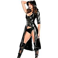 Mujer Calzoncillos Cuero De Patente Rompevientos Vestido Largo