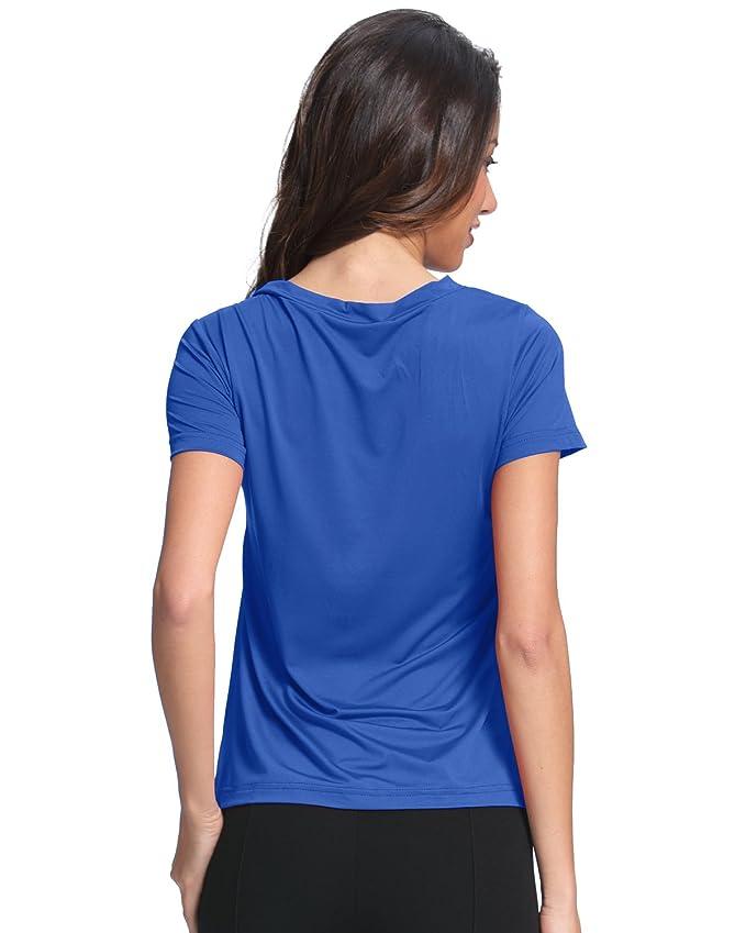 StyleDome Blusa Camiseta Casual Elegante Verano Cuello Profundo V Tiras Mangas Cortas para Mujer: Amazon.es: Ropa y accesorios