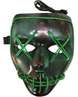 Máscara de Halloween con luz, cable LED, máscara para fiesta de disfraces