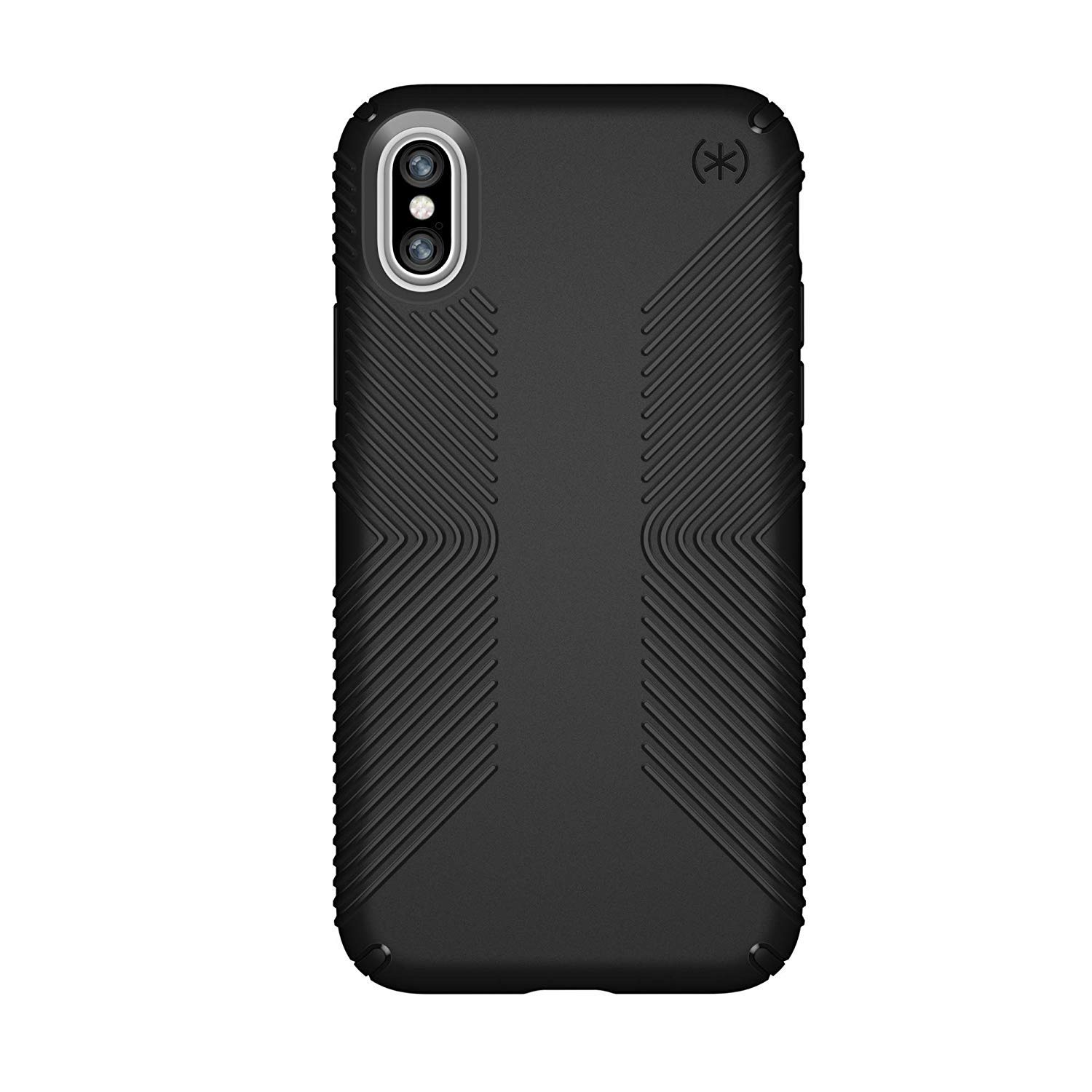 Speck Products Presidio Grip Case for iPhone XS/iPhone X, Black/Black