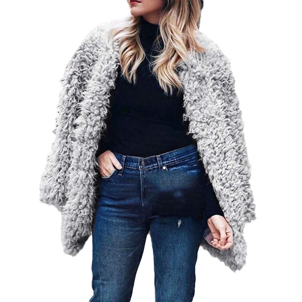 Las Mujeres de Manga Larga sólido con Capucha suéter Abrigo de Invierno cálido Abrigo de Cremallera cómodo algodón Abrigo Outwear: Amazon.es: Ropa y ...