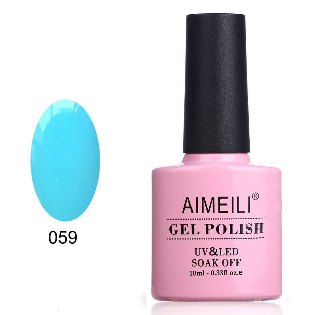 AIMEILI Soak Off UV LED Gel Nail Polish - Neon Pacific (059) 10ml