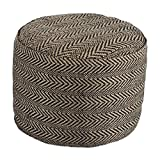 Signature Design by Ashley Chevron Natural Pouf